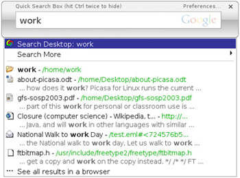 Google Desktop para Linux ya disponible