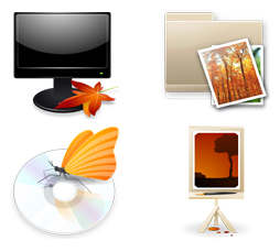 Pack de 6 iconos Autumn Breeze