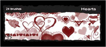 25 Hearts Brushes para Photoshop
