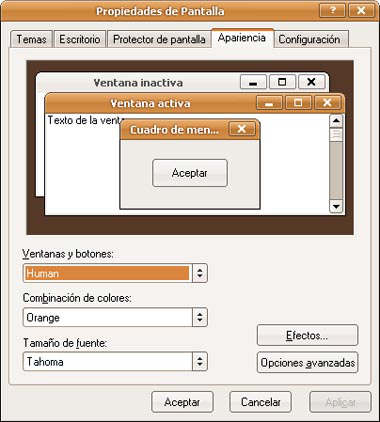 ubuntu, tema de windows xp