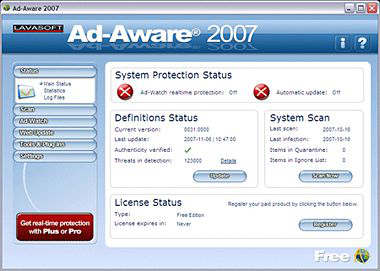 Ad-Aware 2007 Free: Un buen antispyware gratuito