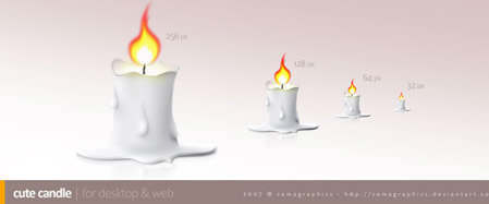 Cute Candle Icon