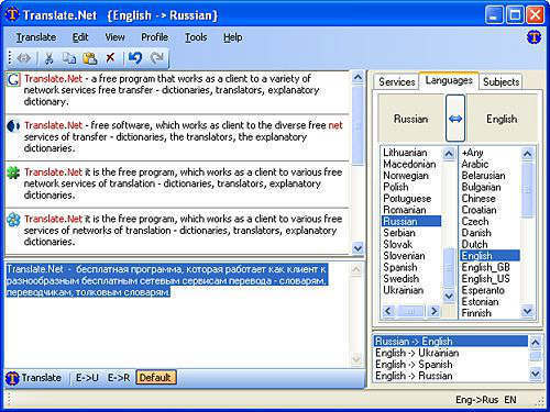Translate.Net: El completo traductor gratuito