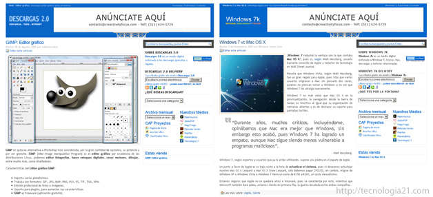 Descargas 2.0 y Windows 7k