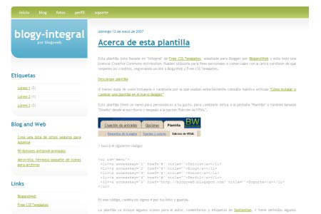 Integral, template de blogger