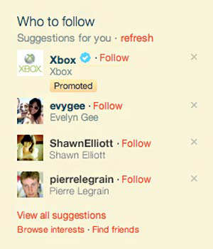 twitter de pago, accounts promoted