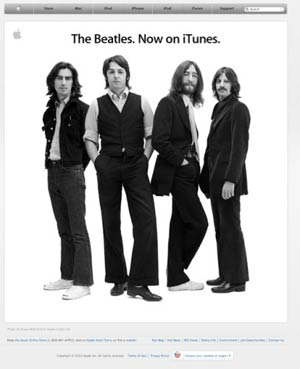 beatles itunes apple