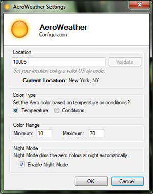 AeroWeather windows7 aero