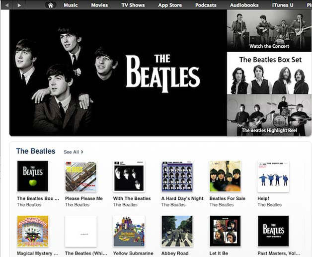Beatles apple iTunes
