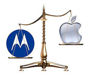 apple contrademanda motorola patente
