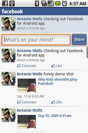 Facebook android chat push