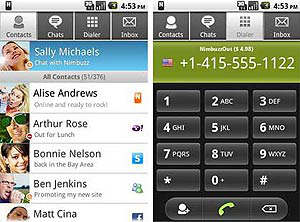 Nimbuzz Android 2.0.2 hd voice