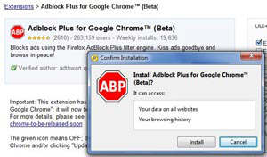 adblock plus google chrome