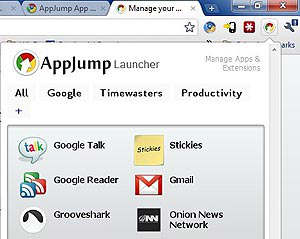 appjump google chrome app launcher