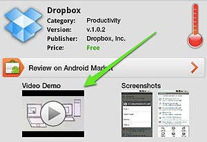 android marketplace videos demo
