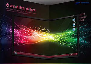 samsung 3d oled tv flexible