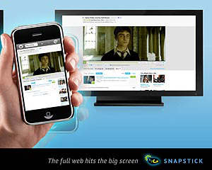 snapstick web tv iphone aplicacion