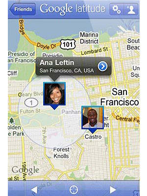 Google Latitude iPhone