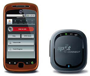spot connect smartphone satellite comunicator