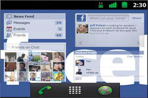 facebook phone interfaz