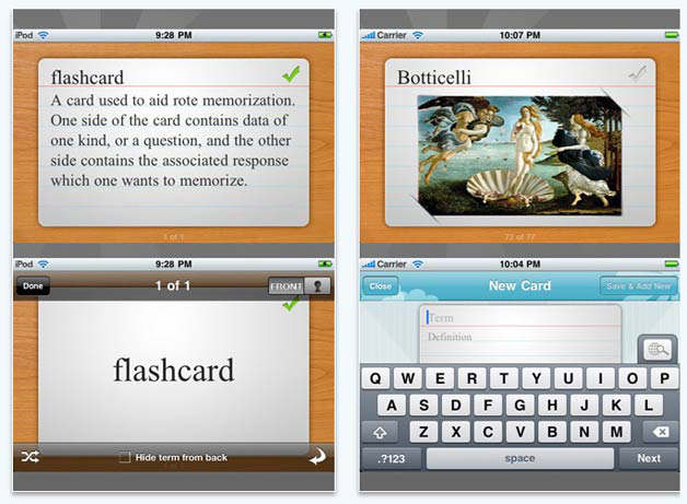 flashcard touch
