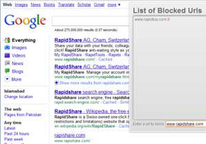 google search spam blocker