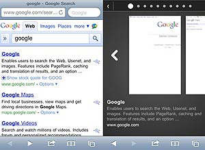 google instant previews iphone