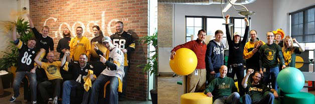 google wisconsin pittsburgh