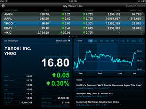 yahoo finance ipad app