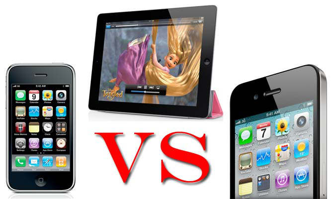 ipad 2 vs iphone 4 vs 3gs