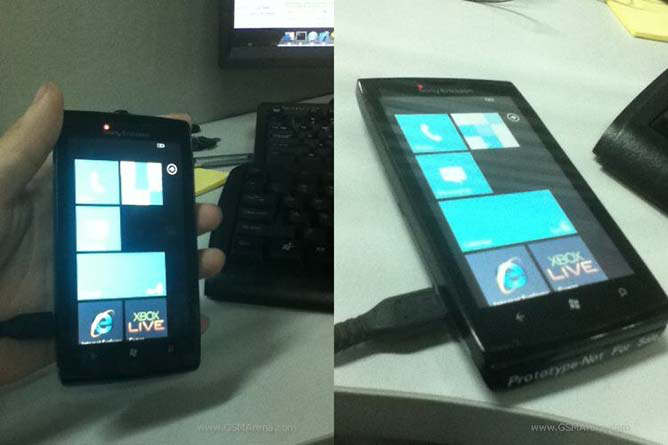 sony ericsson windows 7 wp7 prototipo