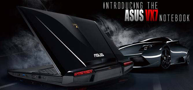 asus lamborghini vx7 notebook black