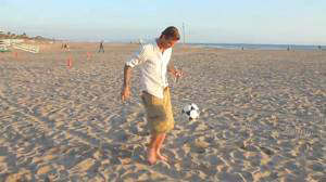 david beckham pepsi beach video increible