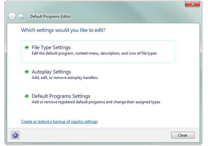 default program editor