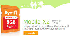 eye-fi mobile x2 8gb tarjeta sd wifi
