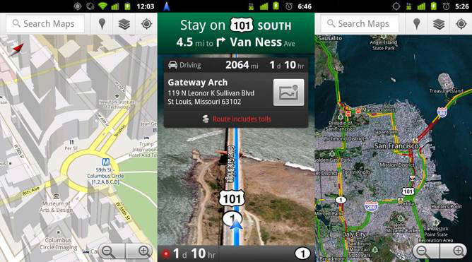 google maps 5.3 android a