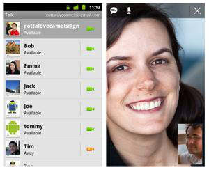 google talk android videochat