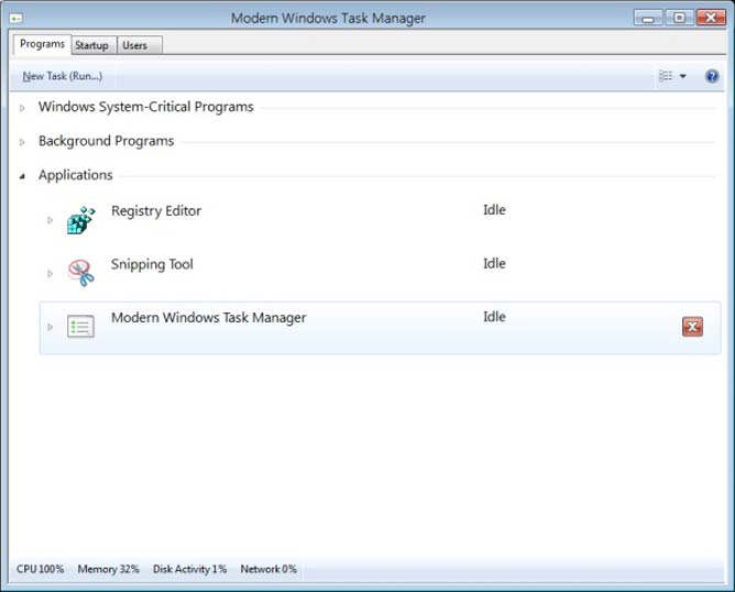 nuevo task manager