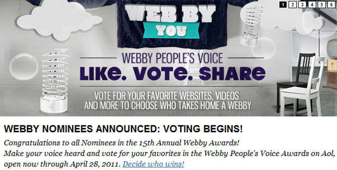 Webby Awards: Bieber, Angry Birds y Old Spice nominados