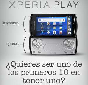 xperia play concurso first2play