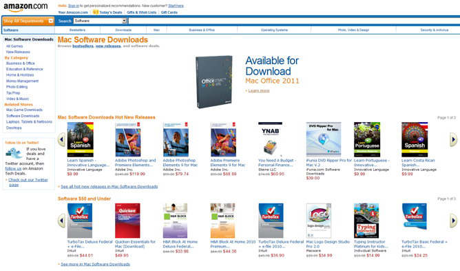 amazon mac software store