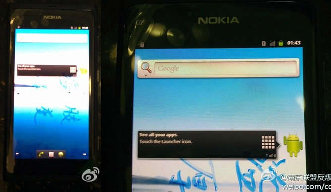 nokia n9 prototipo android gingerbread