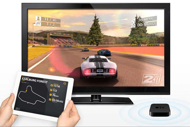 real racing 2 hd ipad 2 airplay wireless