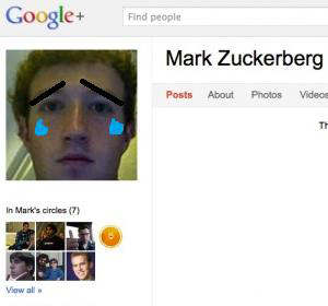 mark zuckerberg google+ triste feliz happy sad