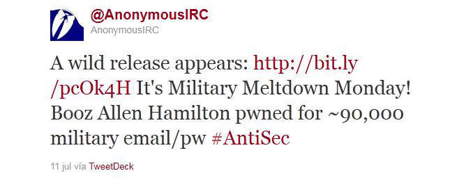 military meltdown monday antisec anonymous