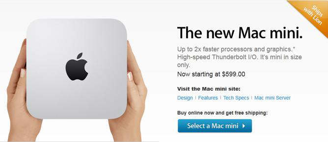new nueva mac mini 2011