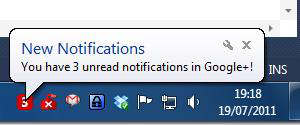 notifier notificaciones google+ bandeja sistema a