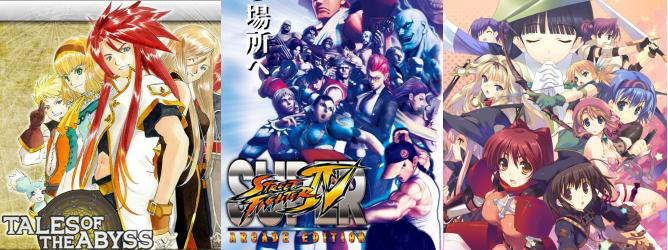 tales of the abyss 3ds super street fighter iv arcade edition to heart 2 dungeon travelers