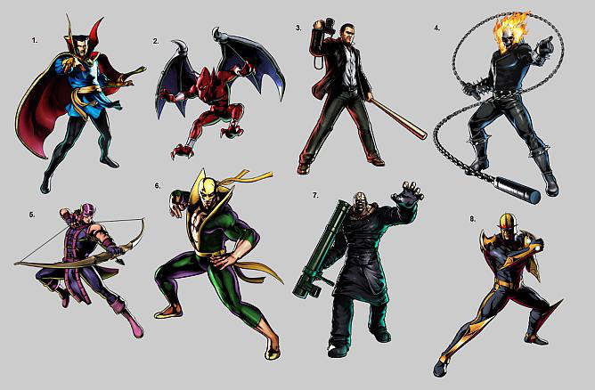 ultimate marvel vs capcom 3 characters personajes