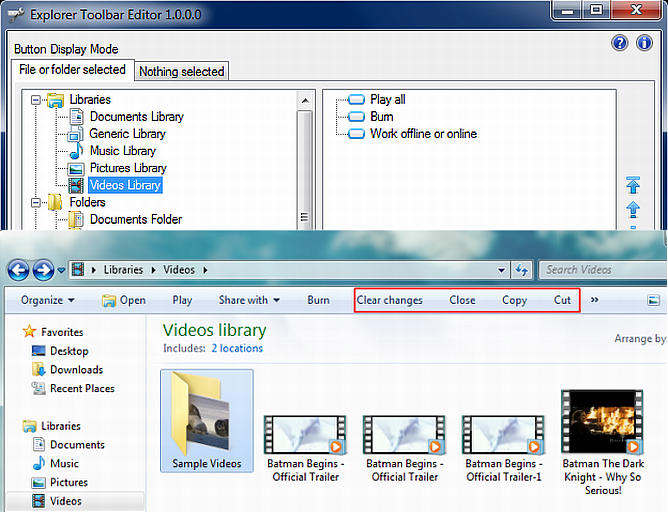 explorer toolbar editor windows 7